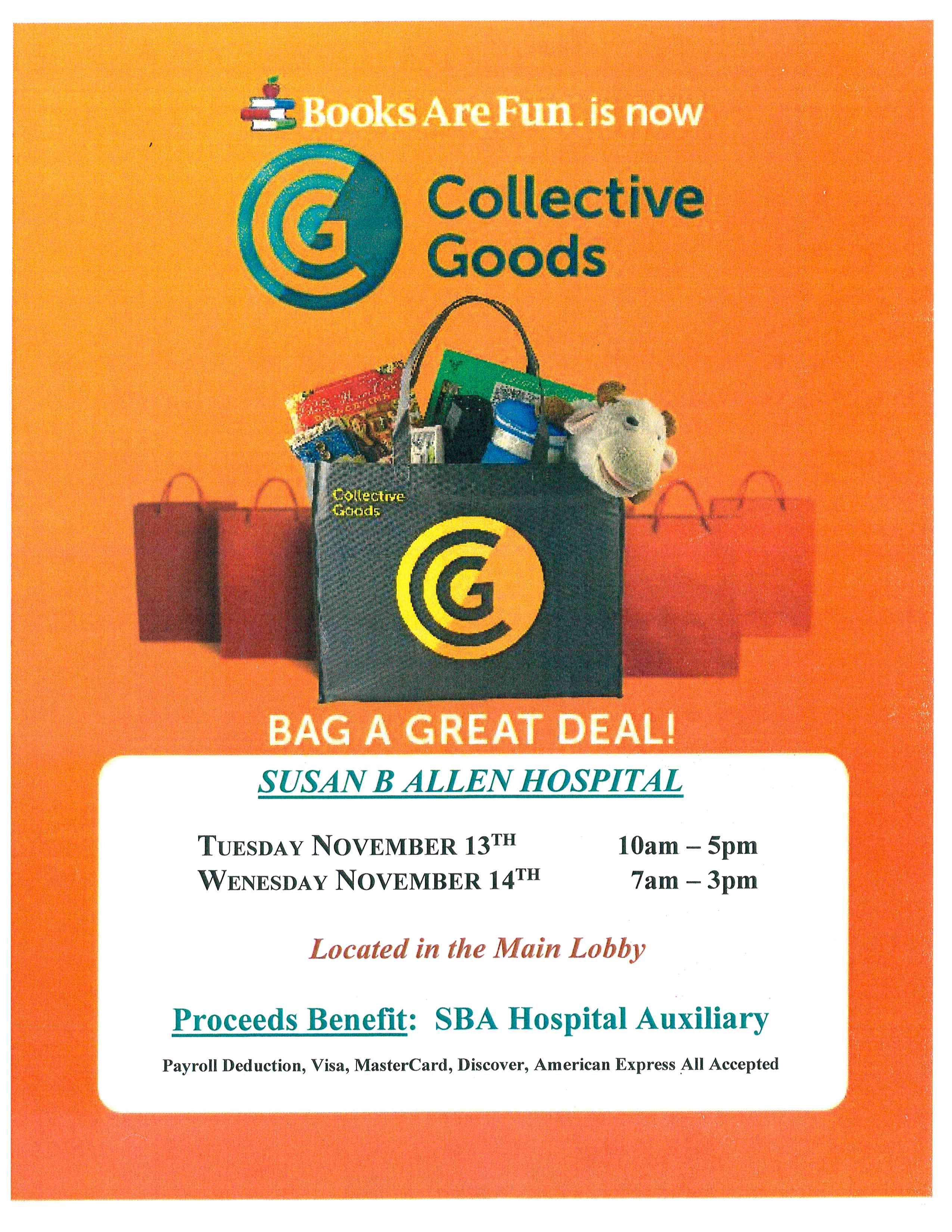 Bag a Great Deal - SBA Sale
