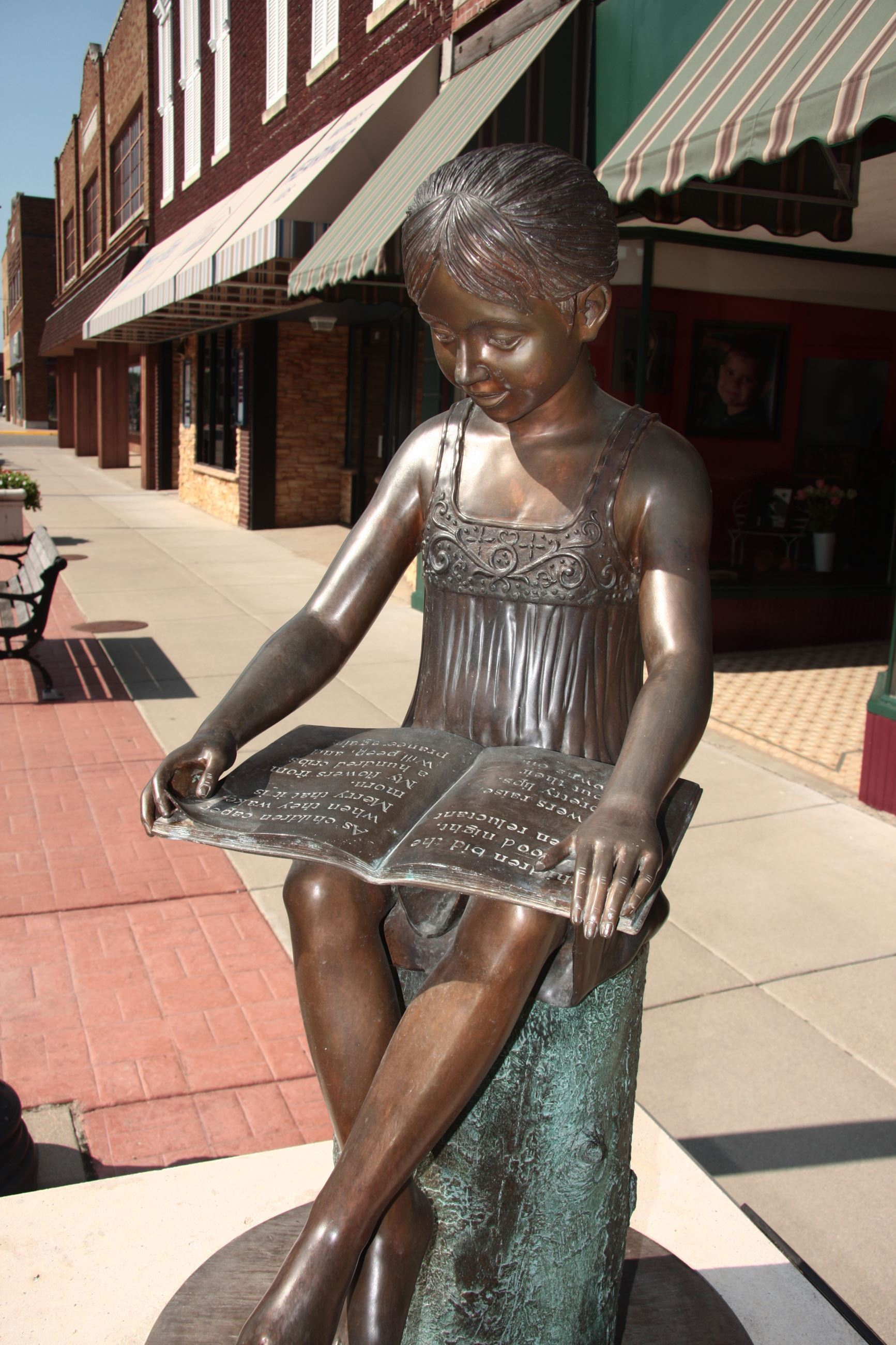Little Girl Statue on Main Street
