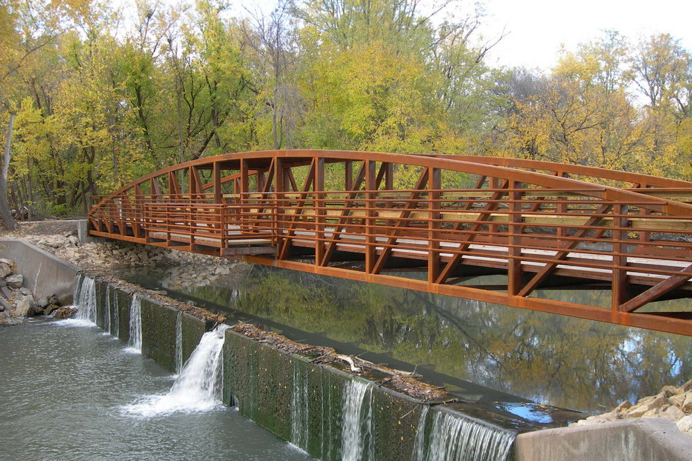 Walnut River Spillway Fishing Bridge