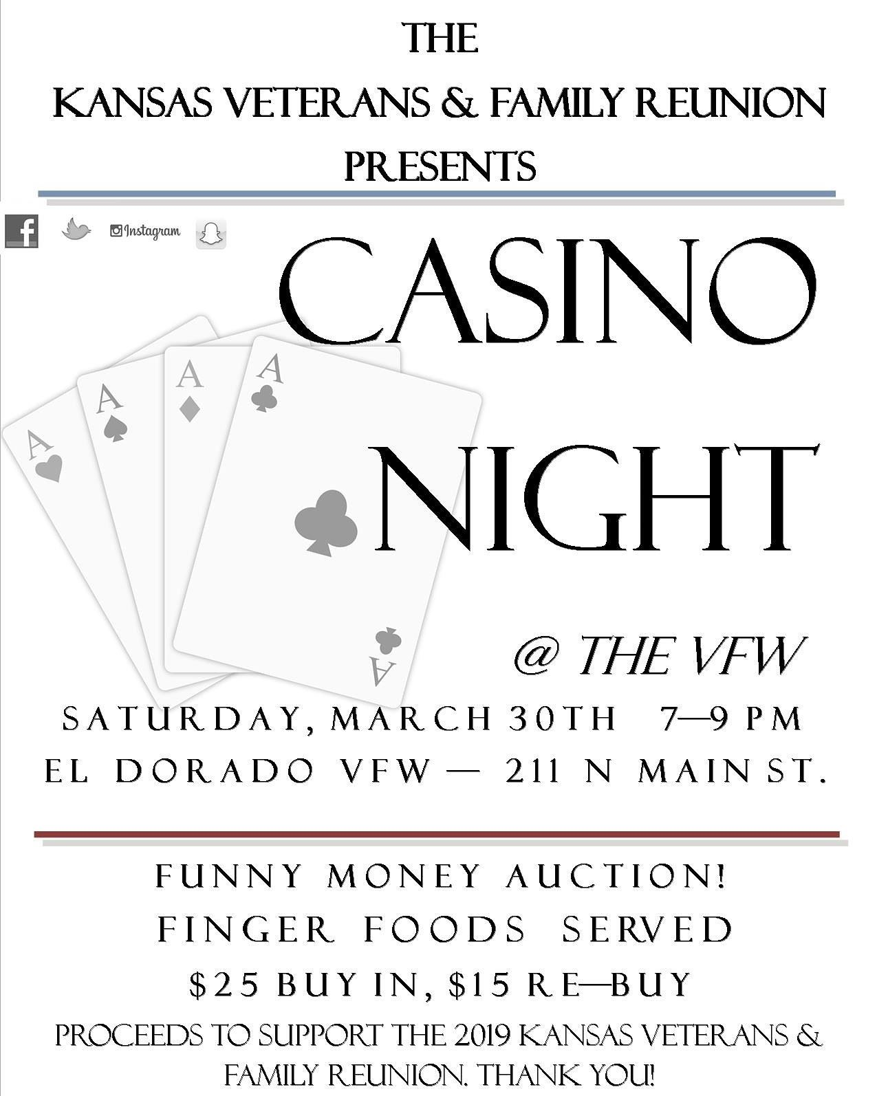 Casino Night - KS Veterans and Family Reunion
