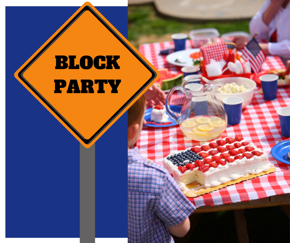 Block Party for website homepage