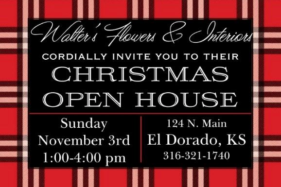 walters christmas open house