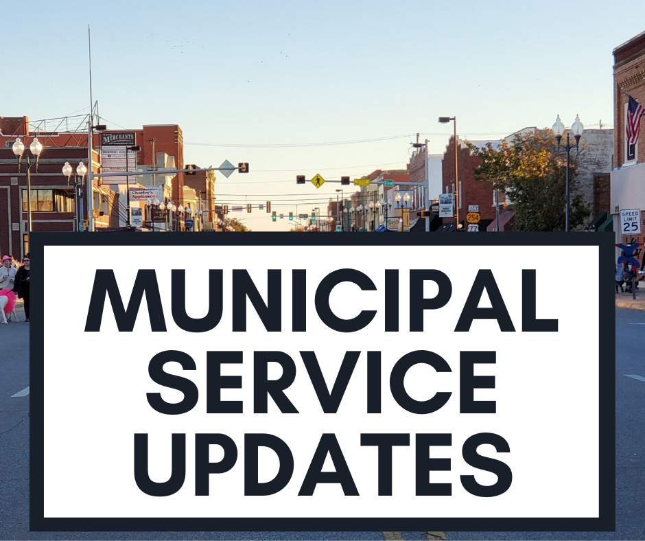 Municipal Service Updates for Website Spotlight