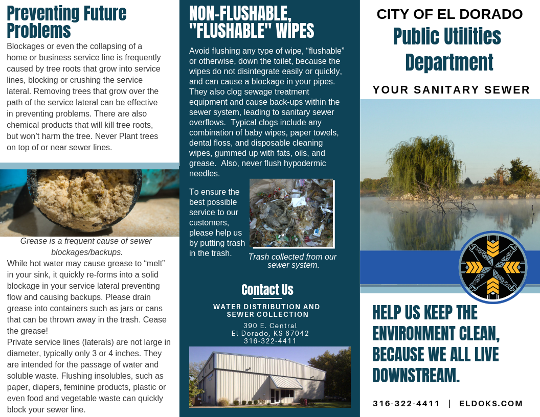 Sanitary Sewer Brochure (front)