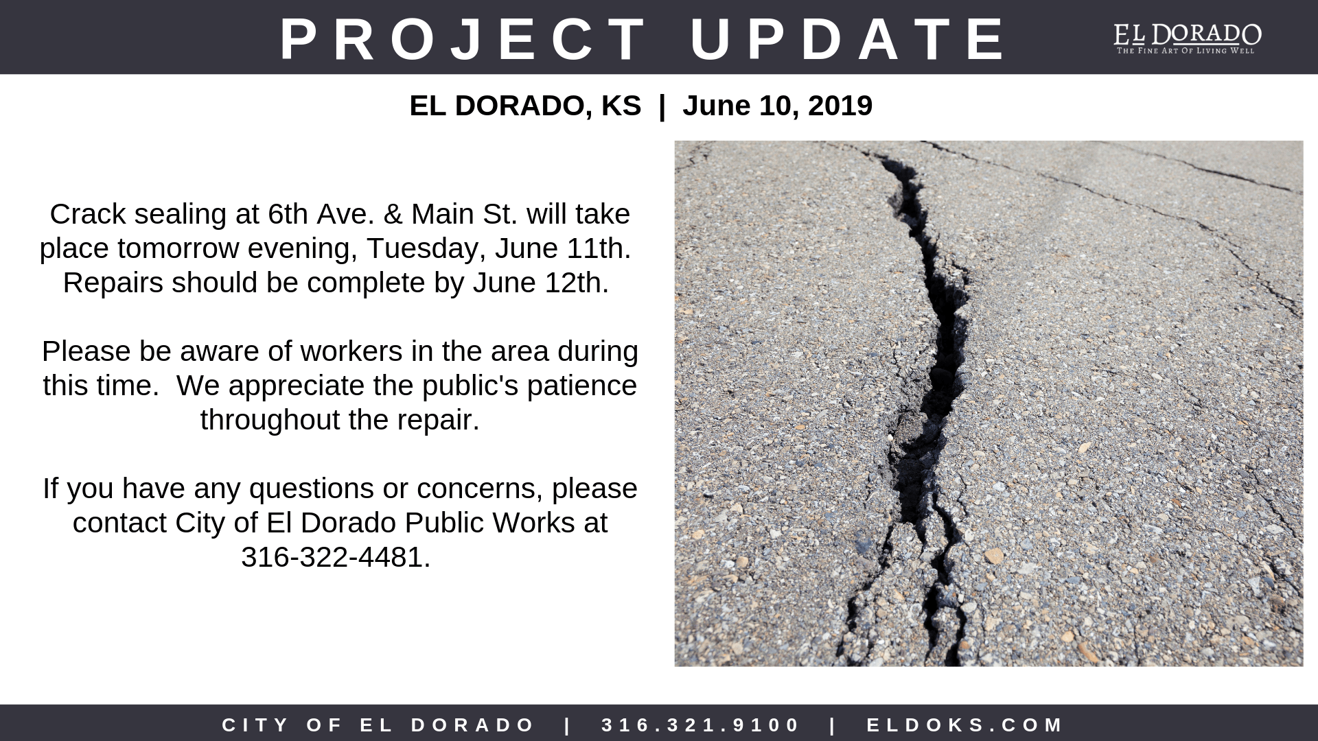 Public Works Project Update 6.10.19