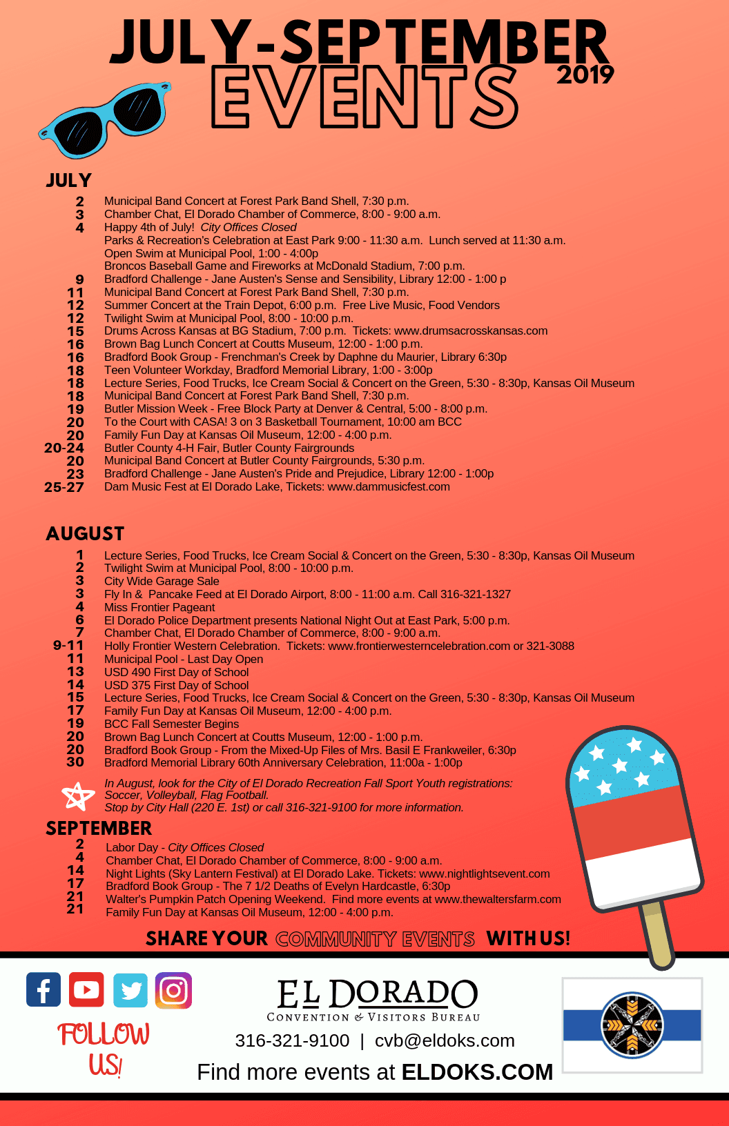 Quarterly Event Flyer (July - Sept) 2019