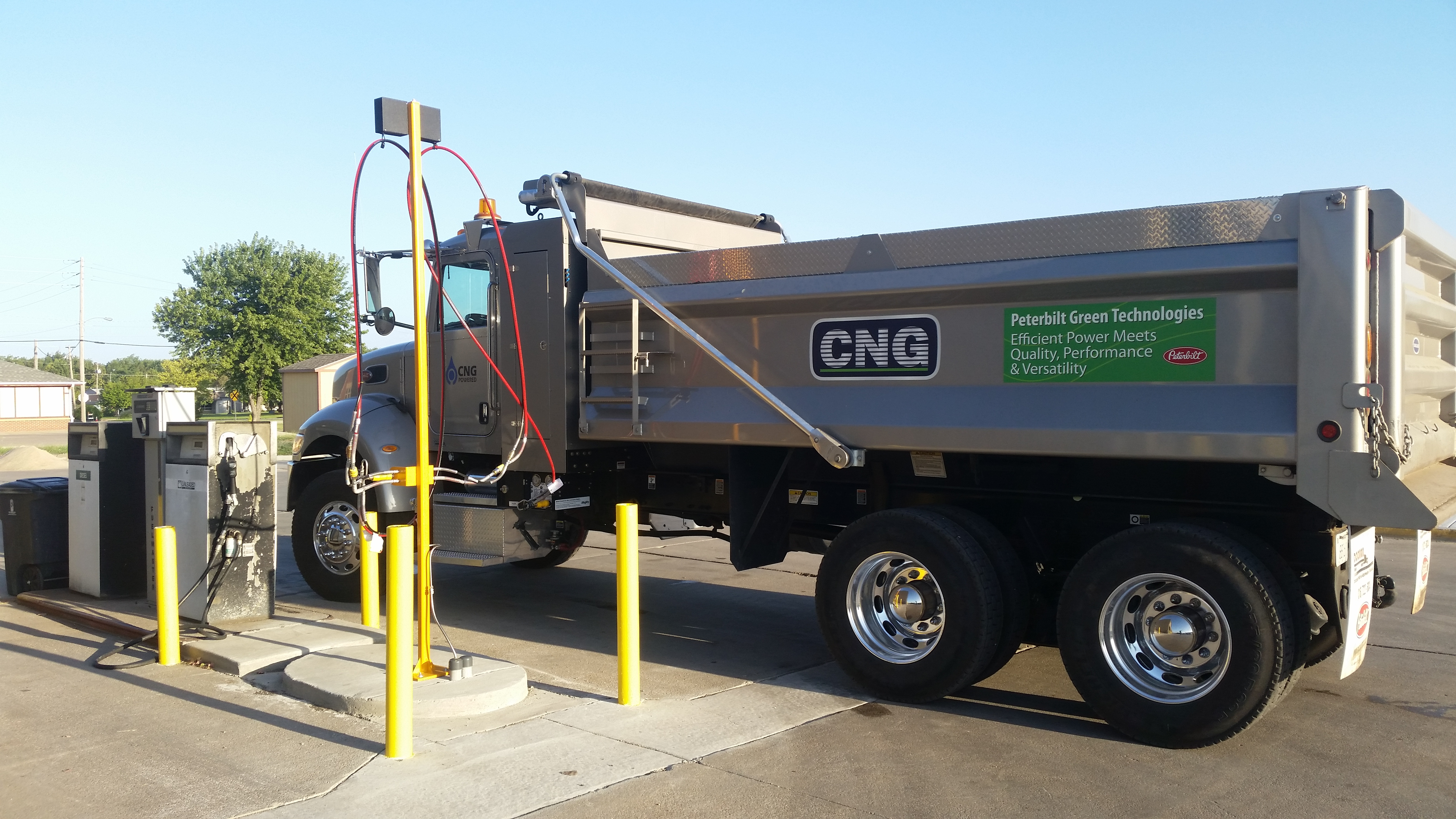 Driver's Side of Compressed Natural Gas Truck