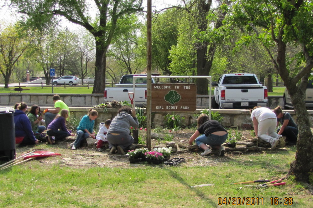 Girl Scout Park Annual Planting