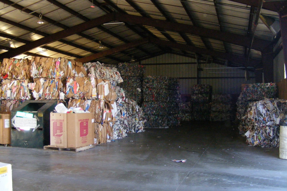 Stacks of Recycles Materials