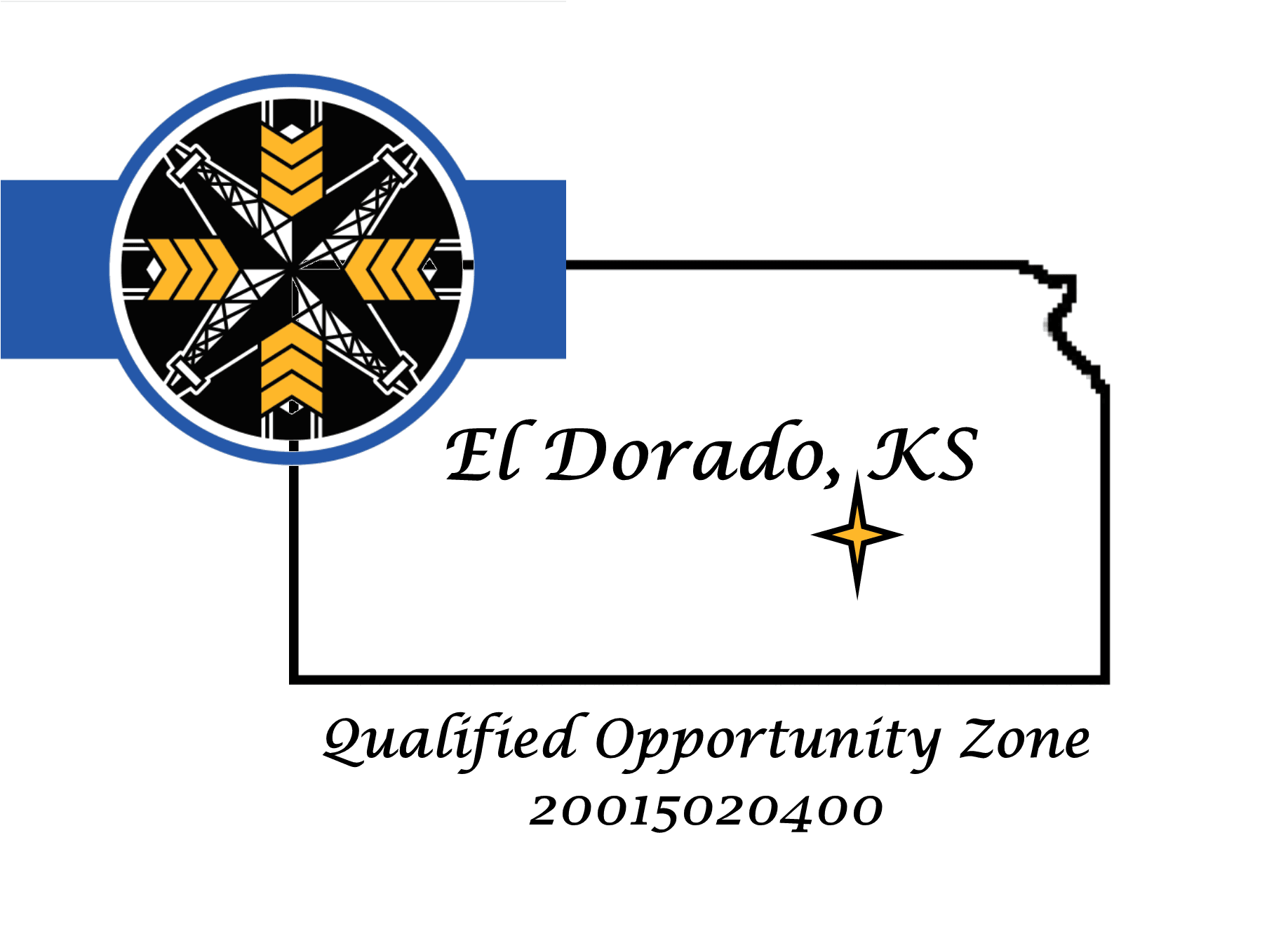 Opportunity Zone logo with Flag
